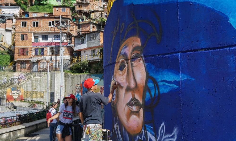Communa 13 Medellin colombia Graffiti